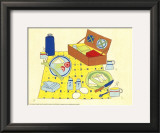Picnic Basket Print by Lorraine Cook