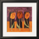 3 Tulipes Poster by Loetitia Pillault