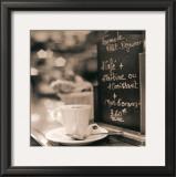 Café, Champs-Élysées Poster by Alan Blaustein