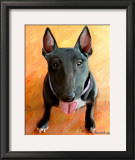 Bull Terrier Rhino Art by Robert Mcclintock