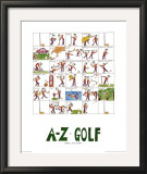 A-Z of Golf Poster by Nicola Streeten