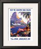 South Sea Isles via Pan Am Poster by Paul George Lawler