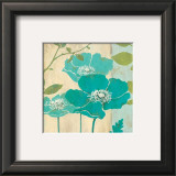 Modern Blue Poppy Prints by Stefania Ferri