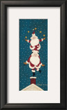 Juggling Santas Print by Warren Kimble