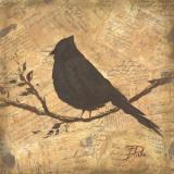 Bird Silhouette II Art by Patricia Quintero-Pinto