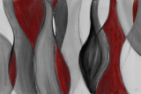 Coalescence (red, gray, black) Affiches par Lanie Loreth