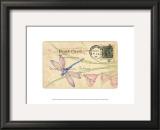 Postcard Dragonfly II Prints by Nancy Shumaker Pallan