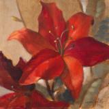 Crimson Fleurish II Poster by Lanie Loreth
