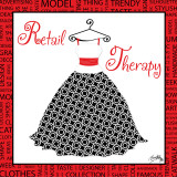 Retail Therapy Print by Elizabeth Medley