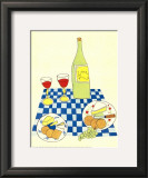 Wine and Cheese Picnic Prints by Lorraine Cook
