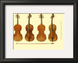 Antique Violins I Prints by William Gibb