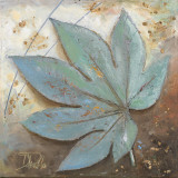 Turquoise Leaf I Poster by Patricia Quintero-Pinto