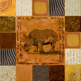 African Collage I Posters af Patricia Quintero-Pinto
