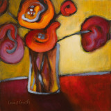 Red Poppies in a Vase Art by Lanie Loreth