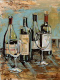 Wine I Print by Heather A. French-Roussia