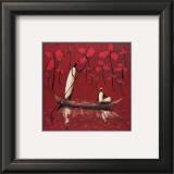 Crimson River Art by Michel Rauscher