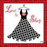 Love to Shop Print by Elizabeth Medley