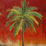 La Palma on Red I Prints by Patricia Quintero-Pinto