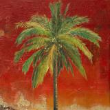 La Palma on Red I Prints by Patricia Quintero-Pinto