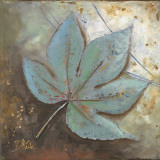 Turquoise Leaf II Print by Patricia Quintero-Pinto