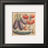 Vegetables III, Eggplants Poster by Laurence David