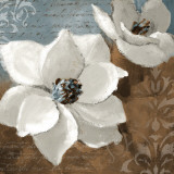 White Magnolias I Poster von Lanie Loreth