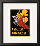 Florio e Cinzano, 1930 Prints by Leonetto Cappiello