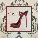 Diva Shoe Prints by Hakimipour-Ritter