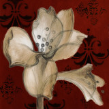 Amaryllis on Red I Prints by Lanie Loreth