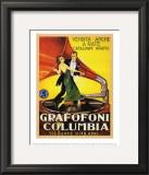 Grafofoni Columbia 1920 Poster