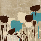 Floral Simplicity III (blue) Prints by Patricia Quintero-Pinto