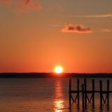 Sunset Pier Print by Karol King