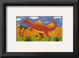 Izzy the Iguanodon Prints by Sophie Harding