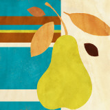 Merry Pear I (blue) Prints by Lanie Loreth