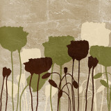 Floral Simplicity II (green) Posters by Patricia Quintero-Pinto