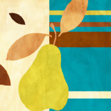 Merry Pear II (blue) Poster by Lanie Loreth