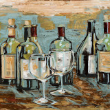 Wine II Prints by Heather A. French-Roussia