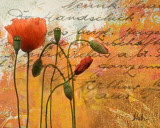Poppies Composition I Print by Patricia Quintero-Pinto