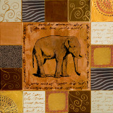 African Collage II Prints by Patricia Quintero-Pinto