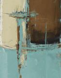 Oxido on Teal I Kunst von Patricia Quintero-Pinto