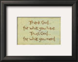 Thank God Prints by Karen Tribett