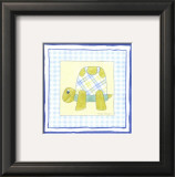Turtle with Plaid III Prints by Megan Meagher