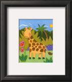 Baby Giraffe Art by Sophie Harding