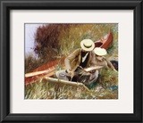 Out of Doors Study Print by John Singer Sargent