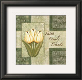 Tulips, Faith Family Friends Print by Maria Girardi