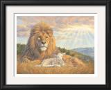 Lion and Lamb Posters by Lucie Bilodeau