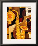 Abstract Sax Prints by Paul Brent