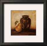 Crock with Pears Print by Peggy Thatch Sibley