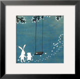 Follow Your Heart- Let&#39;s Swing Print by Kristiana P&#228;rn