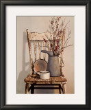 Watering Can on Chair Posters by Cecile Baird